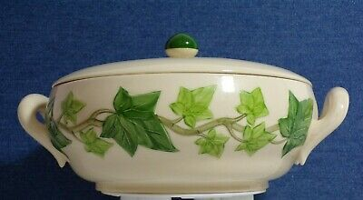 Franciscan Ivy Two Handled Casserole Vegetable Covered Dish Vintage