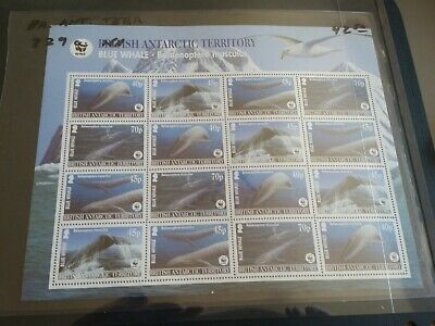 British Antarctic Territory 2005 Sg 361-364 Endangered Species Sheet   Mnh (Y)