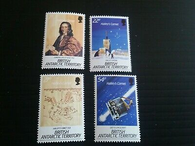 British Antarctic Territory 1986 Sg 147-150 Appearance Of Halleys Comet  Mnh (Y)