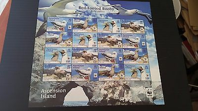 Ascension Island 2016 Red Footed Booby Wwf Sheetlet  Mnh