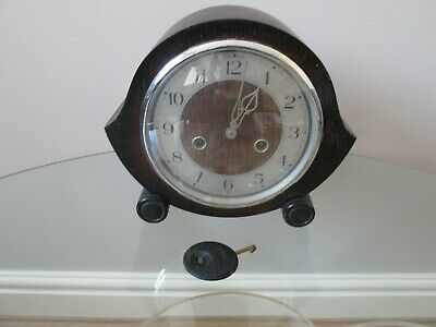 Smiths Enfield Striking Mantel Clock Working