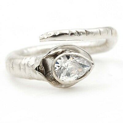 Natural White Topaz 925 Solid Sterling Silver Ring Jewelry Sz 6