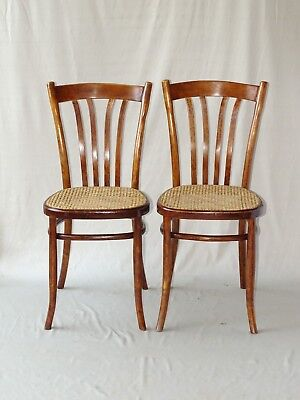 2 Chaises Turpe bistrot cannées, Allemagne 1910 ( No Thonet )