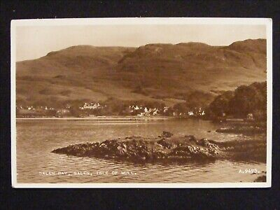Vintage Salen Bay Salen Isle Of Mull Real Photo Scottish Island Postcard