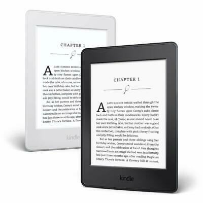 "NEW AMAZON KINDLE PAPERWHITE 4GB 300ppi HiResolution WIFI 6"" EREADER Black/White"
