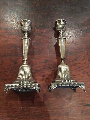 Antique Sterling Silver American Candlesticks, 1920s