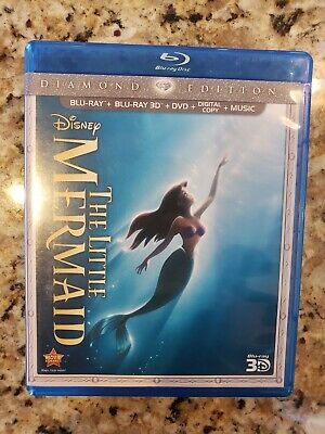 The Little Mermaid (Blu-ray/DVD, 3D Blu Ray 3-Disc Set, Diamond Edition) Disney