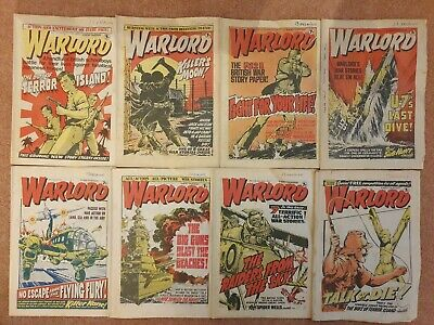 8 early issues of WARLORD comic 1977 issues no. 125,126,128,129,130,131,132,133