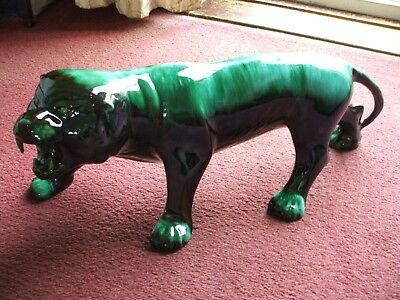 Blue Mountain Pottery Largest Panther  63 Cm 25 Inches 1960S ?  V Good Condition