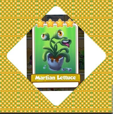 Coin Master Card Martian Lettucce  Fast delivery