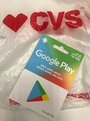 Google Play Giftcard $500 Value - NOT SCRATCHED , quick ship great savings!
