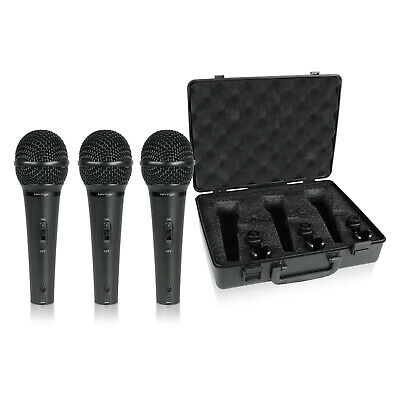 Behringer Ultravoice XM1800S Handheld Supercardioid Dynamic Mics - Set of 3