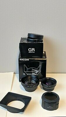 Ricoh GR Digital  GT-1 , GW-1, GH-1 Tele & Wide Converter Set Great Shape
