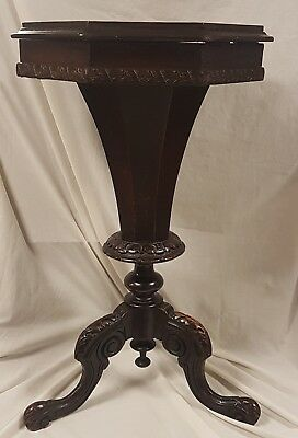 Antique Victorian Trumpet Sewing Table