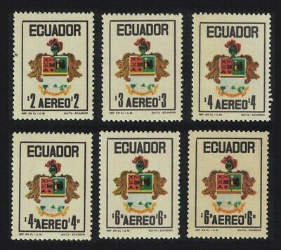 Ecuador Civic and Armed Forces Day 6v MNH SG#1502-1507