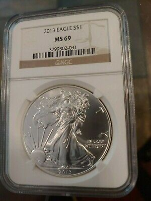2013 American Silver Eagle One Dollar NGC MS 69