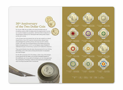 2018 30th Anniversary of the $2 coin in a RAM pack of 12 coins.