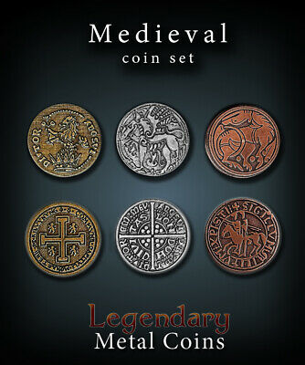 Legendary Metal Gaming Coins - Medieval Coin Set