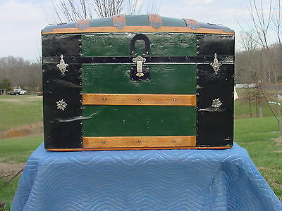 Antique Trunk Restored  Patented 1872  As Much As 147 Years Old!  Very Nice!