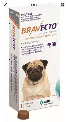 Bravecto Flea & Tick Control Chewable Tablets for Small Dogs (4.5-10kg) - Orange