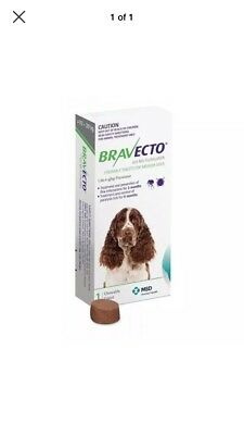 Bravecto Flea & Tick Control Chewable Tablets for Medium Dogs (10-20kgs)
