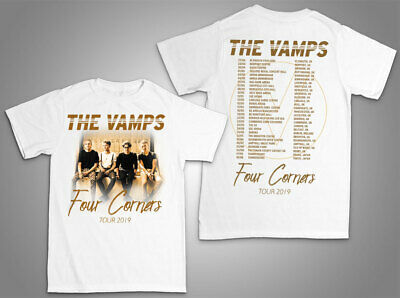 f1c139f6 Four Corners Tour 2019 - The Vamps - unisex T Shirt UK band music woman gift