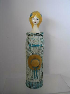 Vintage Irice Paper Mache Woman Figure Hairspray Can Cover Vanity Decor JAPAN