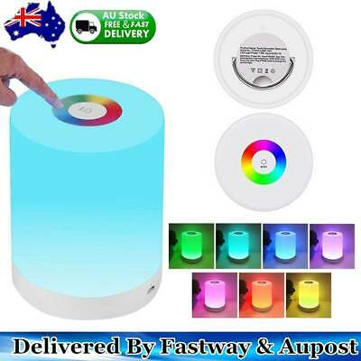 AU Touch Control LED Night Light Chargeable Bedside Table Dimmable Colour Lamp