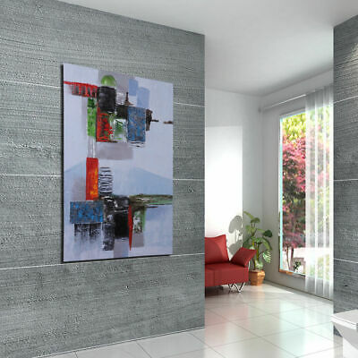 Hand-painted Modern Abstract Wall Art Stretched On Canvas Oil Painting Framed