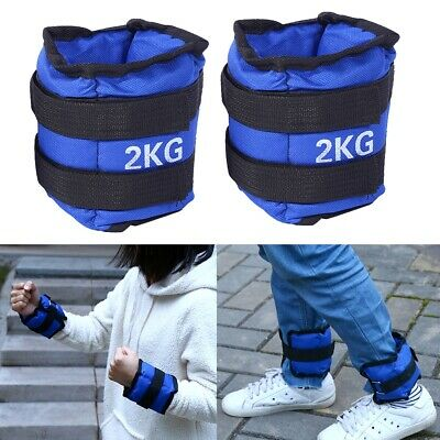 4KG Ankle Weights Sport Home GYM Weight Fitness Outdoor Running Training Leg AU