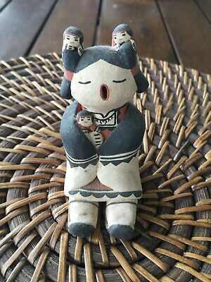 Native American Cochiti Storyteller Clay Pottery Figurine Sculpture Collectable