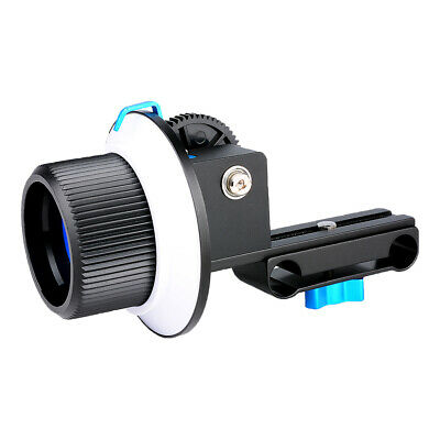 DSLR Camera Follow Focus F1 and Zoom Gear Ring Set for 52-86mm Size Lens