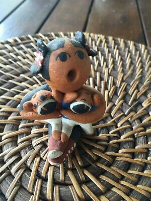 Native American Storyteller Clay Pottery Figurine Sculpture Collectable