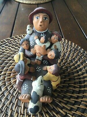 Native American USA Storyteller Clay Pottery Figurine Sculpture Collectable