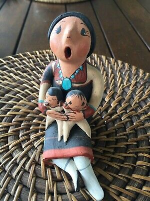 Native American Storyteller Clay Pottery Figurine Sculpture Collectable Jemez