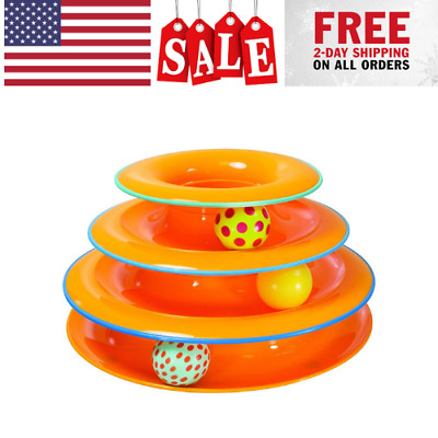 Petstages Tower Of Tracks Ball and Track Interactive Toy For Cats Fun Cat Game