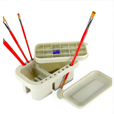 Paint Brush Wash Bucket Artist Supplies Oil Water Colour Painting Holder Cleaner