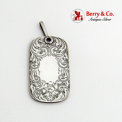 Hand Chased Floral Scroll Chatelaine Notebook Sterling Silver 1900