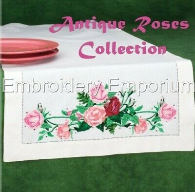 Antique Roses Collection - Machine Embroidery Designs On Cd Or Usb