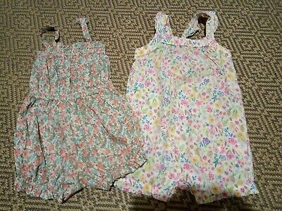 Bundle Two Pretty summer Rompers 12-18 Months  monsoon and next