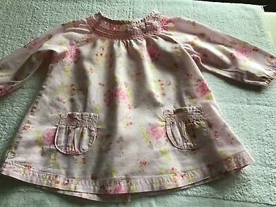 Next Pink Floral Blouse 3-6 months