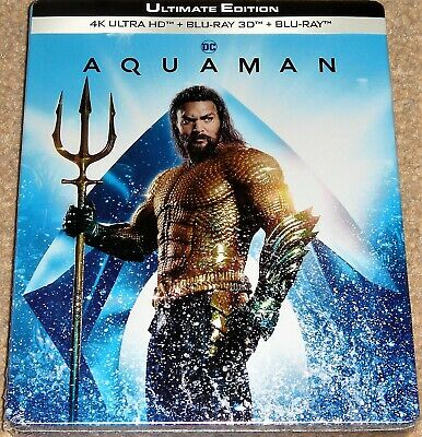 Aquaman 4KUHD+3D+2D Blu Ray Limited Edition Steelbook /Import/WORLDWIDE SHIPPING