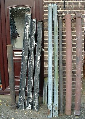 Vintage Cast Iron Guttering, Down Pipes, Bends, Brackets,Nails Etc