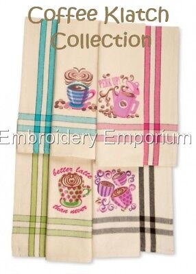 Coffee Klatch Collection - Machine Embroidery Designs On Cd Or Usb