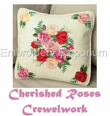 Cherished Roses Crewelwork - Machine Embroidery Designs On Cd Or Usb
