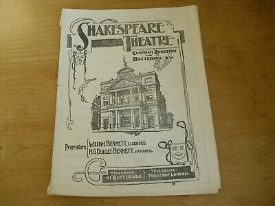 Shakespeare Theatre Clapham Junction Programme 1904 - Patience/The Gondoliers
