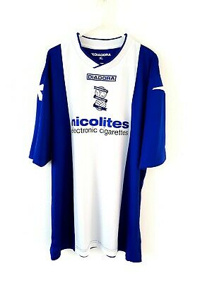 Birmingham City Home Shirt 2013. XL. Blue Adults Short Sleeves Football Top Only