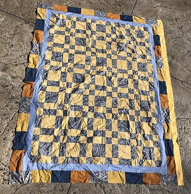 Handmade Primitive Shaker Quilt  Throw TOP Unfinished