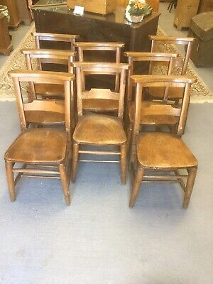 Antique Ash And Elm Chapel Chair 8 Available Sn-480a