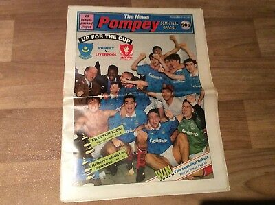 The News - Pompey Semi - Final Special Portsmouth V Liverpool Newspaper  1992